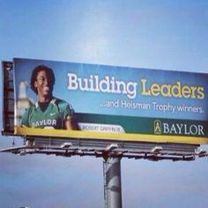 RG3 billboard near Baylor Campus! Sic Em' Bears!