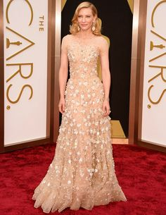 Cate Blanchett, The Elaborate Romantic in Armani at The Oscars 2014