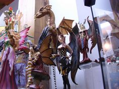 i collect both Dragon and Fairy figures like these! :D