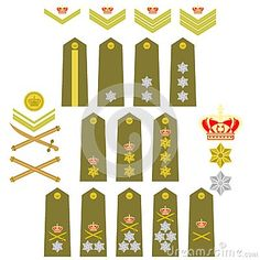 Insignia Of The Royal Greek Army Stock Vector - Illustration of chevron, affiliation: 41119583 Army Ranks, Military Ranks, Military Insignia, Military Police, Military History, Greek Royal Family, Military Signs, Royalty Free Clipart, Vector Graphics