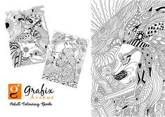 Adult Coloring (Doodles) on Behance Doodle Coloring, Adult Coloring, Colouring, Pattern Coloring Pages, Printable Coloring Pages, Reduce Tummy Fat, Bullet Journal Work, Doodle Books, Textbook