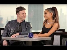 Ariana Grande teaches Taran Killam the lyrics to.: Ariana Grande teaches Taran Killam the lyrics to 'Problem' in SNL… Saturday Night Live, Ariana Grande Snl, Puns, Starbucks, Lyrics, Joker, About Me Blog, Teaching, Clean Puns