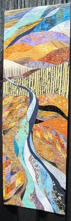 Long Beach International Quilt Festival 2013 Love the quilt design. Inspiration for landscape wall hanging?