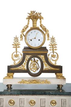 Period Directoire Mantel Clock By Deverberrie