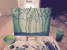 """""""Peace in the forest"""" painting"""