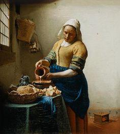 Jan Vermeer van Delft - Milchausgießende Magd