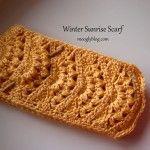 Winter Sunrise Scarf free crochet pattern sunrises, sunris scarf, gift ideas, crochet scarf patterns, crochet gifts, scarves, winter sunris, crochet patterns, crochet scarfs