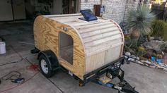 Guy builds a camping trailer from scratch.  Photo Album - Imgur