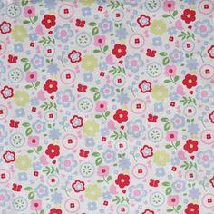 Retro Floral - Chintz - £10.50 per metre from Kids Fabrics Online Shop