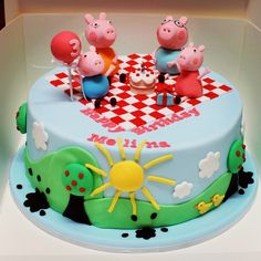 ABC's Peppa Pig Cake - Chocolate Mud with runny Caramel by Sweet Palate