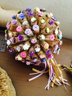 Wine cork bouquet. Maybe not for a wedding but something else