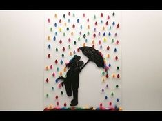 Quilled Couple In Rain Wall Art | Magic Quill - YouTube
