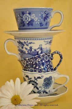 Blue and white china - love!