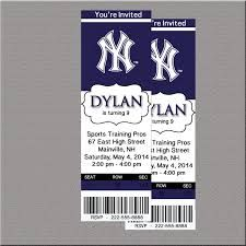 25x6 new york sports party yankees invitations pinterest httpsgooglesearchqny yankee ticket invitationny yankees stopboris Gallery