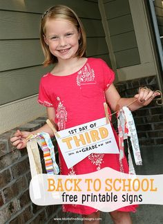 Celebrate the first day of school with these fun free printable signs. Perfect to snap a photo of your kiddo for their back to school picture!