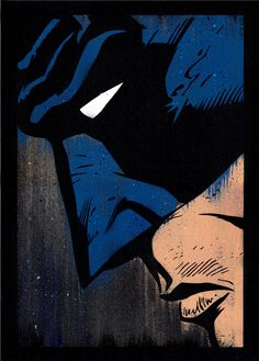 Batman Hand painted with acrylics and spray paint. S/N editions of 20, available by Michael Latimer