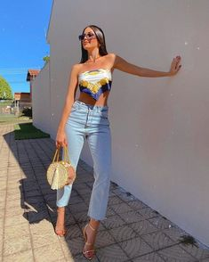 Cute Casual Outfits, Basic Outfits, Retro Outfits, Stylish Outfits, Summer Outfits, Miami Outfits, Look Fashion, Teen Fashion, Fashion Outfits