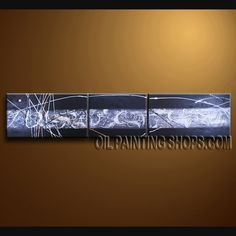 Beautiful Modern Textured Painted Wall Art Hand-Painted Art Paintings For Living Room Abstract. This 3 panels canvas wall art is hand painted by V.Chua, instock - $165. To see more, visit OilPaintingShops.com