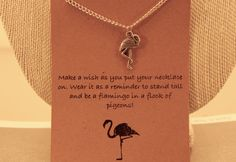 Flamingo Necklace: Be a Flamingo Charm by CraftsbyBrittany on Etsy