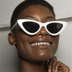 Shop the Le Specs White The Last Lolita Sunglasses online. Sunglasses Online, Cat Eye Sunglasses, Le Specs, Fashion Face, Monochrome, Stylish, Pretty, Collection, Shopping