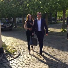 drublesbestfum1:  Crown Prince Frederik and Crown Princess Mary of Denmark attended a birthday party for Mary's hairdresser and makeup artist Søren Hedegaard, May 23, 2015