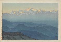 Artist: Yoshida Hiroshi    Title:Khanchinjanga, Afternoon (Kanchienjiyanga, gogo)    Date:1931