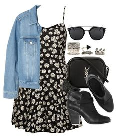 """""""Style #10175"""" by vany-alvarado ❤ liked on Polyvore featuring Yves Saint Laurent, rag & bone, Acne Studios and Forever 21"""