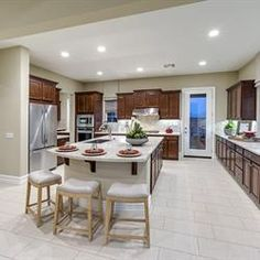 Craft home-made memories in this gourmet kitchen at Phoenix Crest, new homes by Benchmark Communities in Rancho Cucamonga