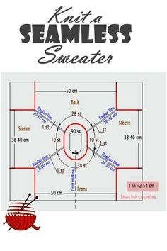 To knit a seamless sweater is not a complex project. But it can become a small nightmare if your gauge swatch does not match recommended one. Here is the solution.