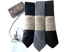 Sonic Fabric Neckties Made From Recycled Cassette Tape Play Sweet Music | Ecouterre