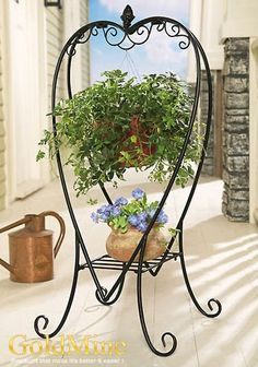 Outdoor Hanging Plant Stand   For the Home   Pinterest ... on Stand For Hanging Plants  id=59524