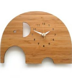 Great Wooden Elephant Clock from splendid willow