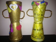 Pipe Cleaners, Construction Paper, Gold Paint, Masking Tape, Fun Activities, Fathers Day, Alternative, Cups, Messages