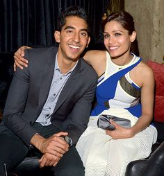 Dev Patel and girlfriend Freida Pinto LOOOOVE SLUMDOG MILLIONAIRE