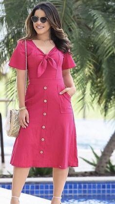 Modest Outfits, Dress Outfits, Casual Dresses, Summer Dresses, Skirt Fashion, Fashion Dresses, Frock Patterns, Kurti Neck Designs, European Fashion