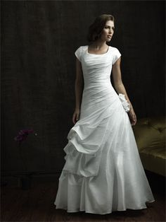Modest wedding dresses from Totally Modest- You can still be beautiful and modest at the same time.