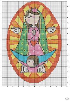 Points de croix *@* cross stitchvirgencita plis