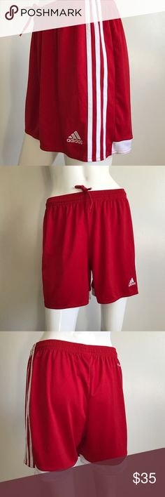 ADIDAS Women's Climacool White Side Stripe Shorts Great Condition super cute ...  ADIDAS Women's Climacool Short w/ White Side Stripe Size: M  Color: Red   *** I'm a wardrobe stylist & these shorts were purchased for a film, they were worn on set for a couple of scenes. They are great condition, as shown in detailed pictures adidas Shorts