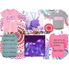 """unicorns r cool"" by nemo500 on Polyvore"