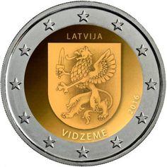 Letonia 2€ cc 2016 – Región de Vidzeme