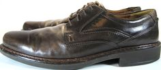 ECCO Men Leather Oxford Shoes Size 13 D Brown.  KAK 26 #ECCO #Oxfords