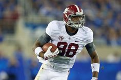 """Alabama's Big guy! O.J. Howard, 6'6"""" 237, expect great things from this amazing tight end. ~ Check this out too ~ RollTideWarEagle.com sports stories that inform and entertain and Train Deck to learn the rules of the game you love. #Collegefootball Let us know what you think. #Alabama #RollTide #Saban"""