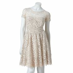 LC Lauren Conrad Lace Dress.   And it looks great on. Light and cute:)