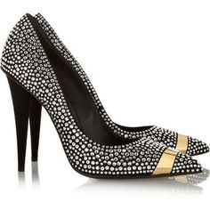 Giuseppe Zanotti Ester crystal and metal-embellished suede pumps