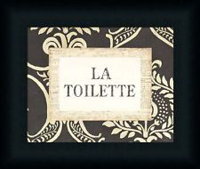 La Toilette Vintage Style French Bathroom Sign Framed Art Print Wall Decor