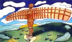 Angel of the North by John Coatsworth  One of the most iconic images of the North East, and Gateshead in particular, is Antony Gormley's 'Angel of the North'  Signed limited edition mounted print