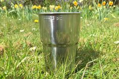 Glastonbury Festival's New British Built Recycled Pint Cup!  It's a brilliant idea! After three years of trial and research, The Glastonbury Festival is delighted to launch a sustainable, recycled stainless steel pint cup for use on a major scale at this year's eve