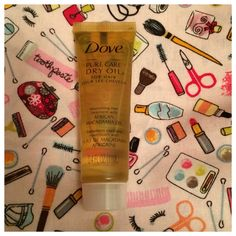 From Ipsy: Dove Hair Oil.