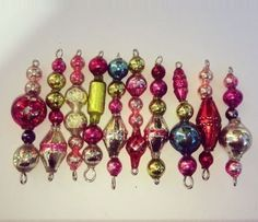100% ANtiQue Vtg MeRCuRy GLaSS GaRLaND BeaD Xmas TRee Icicle oRNaMeNTs Upcycled in Collectibles | eBay