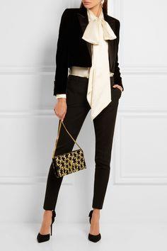 Saint Laurent | Pussy-bow silk-satin blouse | NET-A-PORTER.COM